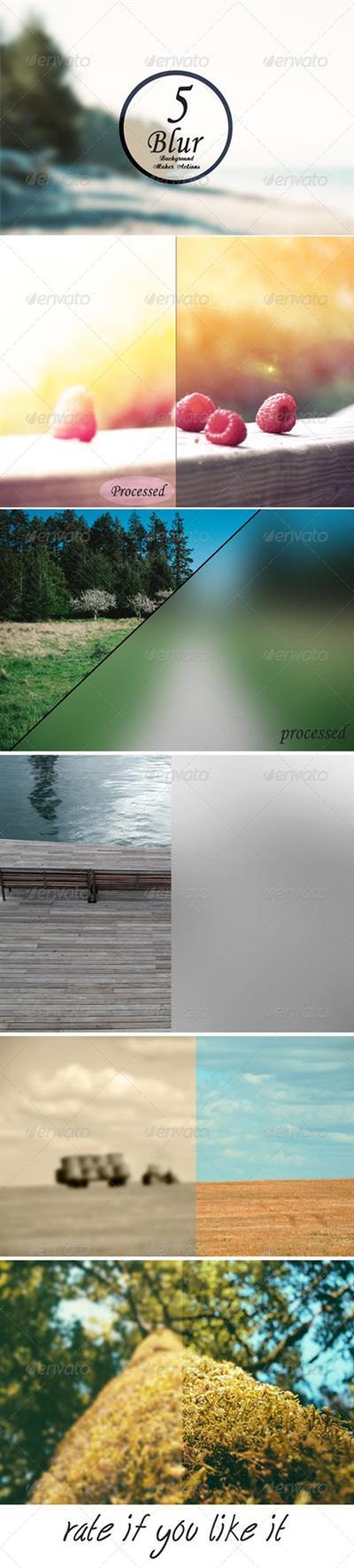 Blur Background Action Set V8 6157875