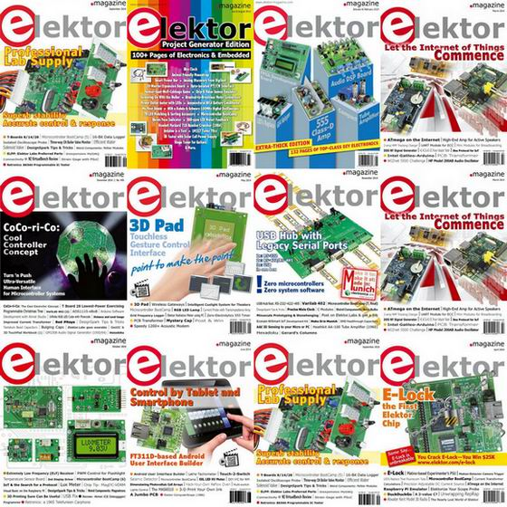 Elektor Electronics №1-12 (January-December 2014) USA. Архив 2014
