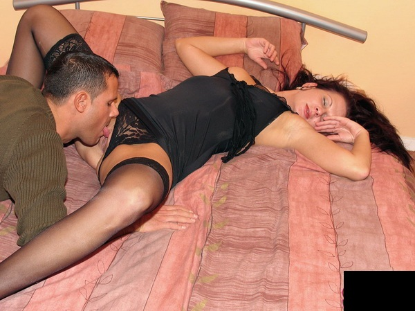 Glory - Drunk Brunette Chick Gets Fucked While Sleeping In Stockings (2009/SD)