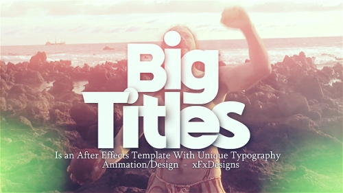 Big Titles Slideshow Typography - Project for After Effects 1920x1080  (Videohive)