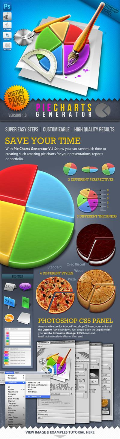 GraphicRiver - Infographic Tool Series 3D Pie Charts Generator 888921