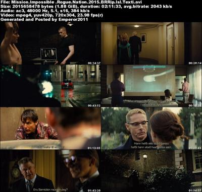 Mission Impossible - Rogue Nation (2015) BRRip Isl Texti