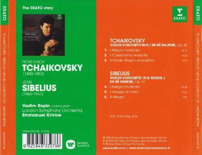 Vadim Repin (violin) - Tchaikovsky, Sibelius (London Symphony Orchestra, Emmanuel Krivine)/ 2014 Erato/Warner Classic