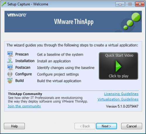 VMWare ThinApp Portable 5.1.0 Build 2079447