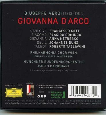 Anna Netrebko - Verdi: Giovanna D`arco (Placido Domingo, Francesco Meli), 2CD / 2014 DG