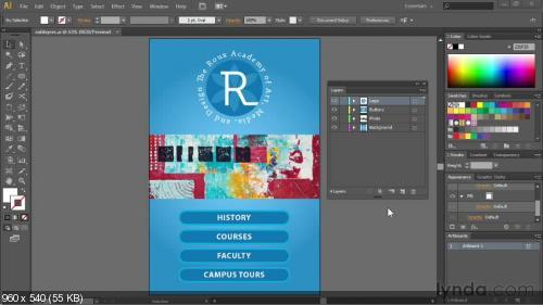 Lynda.com Базовый курс по Иллюстратор CC | [Infoclub.PRO]