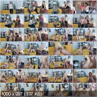 YoungSexParties - Dasha, Kseniya - Two Guys Fucking Eager Teens [HD 720p]