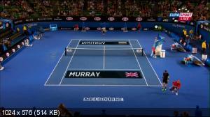 Теннис. Australian Open 2015. 4-ый круг. [6] Энди Маррей (Великобритания) - [10] Григор Димитров (Болгария) [25.01] (2015) IPTVRip
