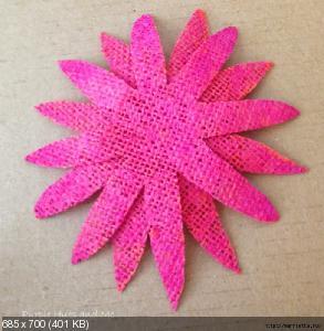 Цветы из мешковины, джута, шпагата C626f0710018cec94ceaabbbd8de2fc6