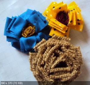 Цветы из мешковины, джута, шпагата 125be819a0c0c4032bac66ca54959325