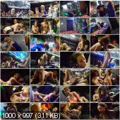 CollegeFuckParties - Joana, Demi, Malika, Kamali - Young College Sauna Fuck Party Part 1 [HD 720p]