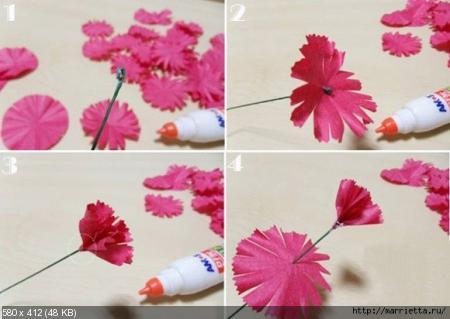 Цветы из гофрированой бумаги 4055764ecb6a43214b21234bd8c35631