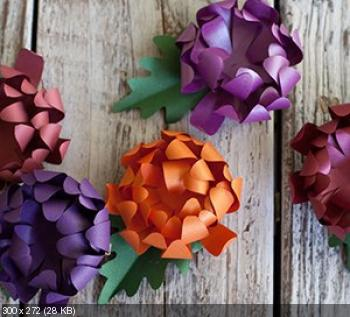 Цветы из дизайнерской бумаги A547adfe9ec0d6c9a47e10028a09be0c