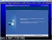Realtek High Definition Audio Drivers 6.0.1.7629 Vista/7/8.x/10 WHQL + 5.10.0.7513 XP